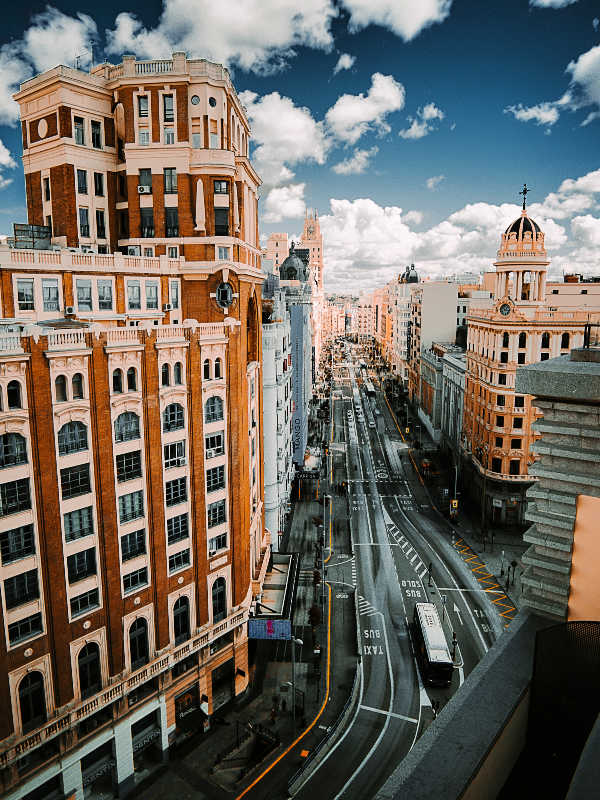 Madrid during winter time