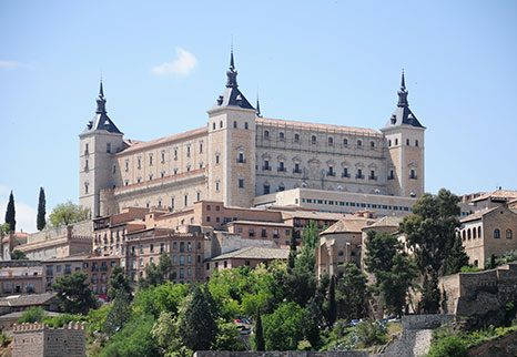 alcazar of toledo in a sunny day